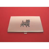Cairn Terrier Chrome Plated Business or Credit Card Holder