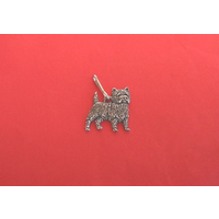 Cairn Terrier Zipper Pull Pewter Pet Gift