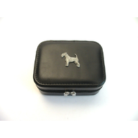 Airedale Terrier Design Small Black Travel Jewellery Box