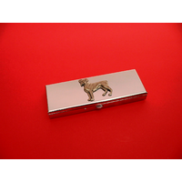Boxer Dog Pewter Motif on Seven Day Pill Box Gift
