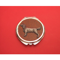 Springer Spaniel on Brown Round Compact Mirror Useful Gift