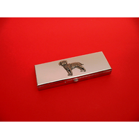Border Terrier Pewter Motif on Seven Day Pill Box Gift