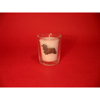 Cocker Spaniel Motif On Glass Votive Candle Holder Xmas Gift