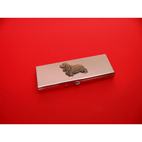 Cocker Spaniel Pewter Motif on Seven Day Pill Box Gift