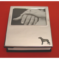 Greyhound Motif on Plated Photograph Album 100 6 x 4 Photos