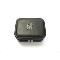 Cockapoo Design Small Black Travel Jewellery Box