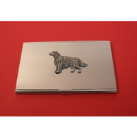 Irish Setter Chrome Plated Business or Credit Card Holder
