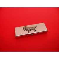 Golden Retriever Pewter Motif on Seven Day Pill Box Gift