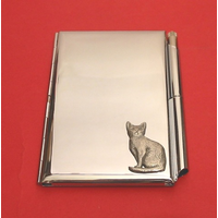 Short Haired Cat Chrome Notebook & Pen
