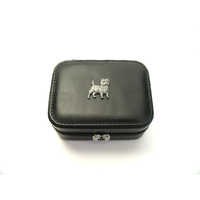 Cairn Terrier Design Small Black Travel Jewellery Box
