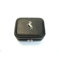 Rearing Pony Design Small Black Travel Jewellery Box Gift