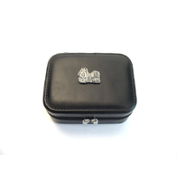 Shih Tzu Design Small Black Travel Jewellery Box Gift