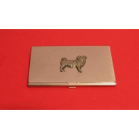 Pug Chrome Plated Business or Credit Card Holder