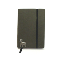 West Highland Terrier A6 Olive Green Journal Dog Gift