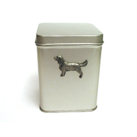 Springer Spaniel Design Motif Tin Tea Caddy Mother Xmas Gift