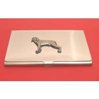 Weimaraner Dog Chrome Plated Business Card Holder