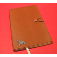 Cocker Spaniel A5 Tan Journal Notebook Dog Gift