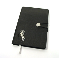 Rearing Horse A6 Black Journal Notebook Horse Gift