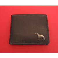 Greyhound Design Real Leather Dark Brown Wallet Gents Gift