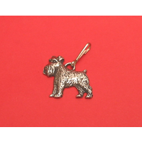 Miniature Schnauzer Dog Zipper Pull Pewter Pet Gift