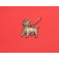 West Highland Terrier Pewter Zipper Pull Dog Gift