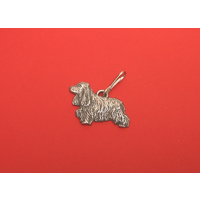 Cocker Spaniel Zipper Pull Pewter Pet Gift