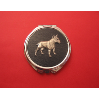 English Bull Terrier Black Round Compact Mirror Ladies Gift