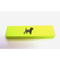 Beagle Motif on Lime Wooden Pen Box with 2 Pens