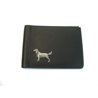 Springer Spaniel Design Real Leather Black Passport Holder