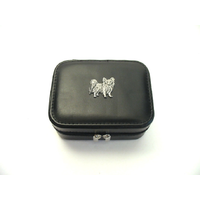 Papillon Design Small Black Travel Jewellery Box Gift