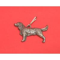 Springer Spaniel Zipper Pull Pewter Pet Gift