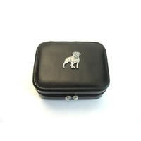 Rottweiler Design Small Black Travel Jewellery Box Gift
