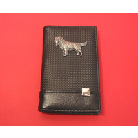 Golden Retriever on Faux Carbon Fibre Black Note book & Pen
