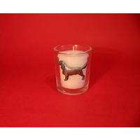 Springer Spaniel Motif On Glass Votive Candle Holder Xmas Gift