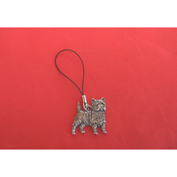Cairn Terrier Mobile Phone Charm Pewter Pet Gift