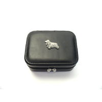 Cocker Spaniel Design Small Black Travel Jewellery Box