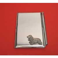 Cocker Spaniel Chrome Notebook & Pen Card Holder