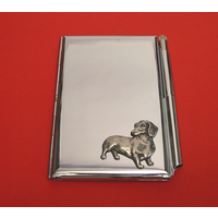 Dachshund Chrome Notebook & Pen Card Holder