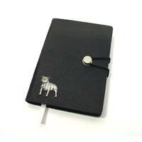 Staffordshire Bull Terrier A6 Black Journal Notebook Staffie Dog