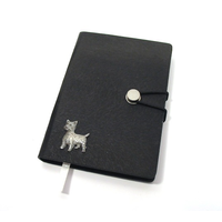 West Highland Terrier A6 Black Journal Notebook Dog Gift