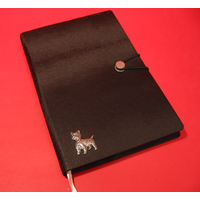 West Highland Terrier A5 Black Journal Notebook Dog Gift