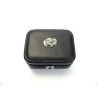 Pomeranian Design Small Black Travel Jewellery Box Gift