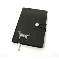 Springer Spaniel A6 Black Journal Notebook Dog Gift