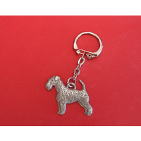 Airedale Terrier Keyring Pewter Pet Mum Dad Gift
