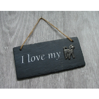 Cockapoo Design Slate Plaque Valentine Christmas Gift