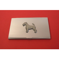 Airedale Terrier Chrome Plated Business or Credit Card Holder
