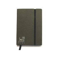 Cairn Terrier A6 Olive Green Journal Notebook Dog Gift