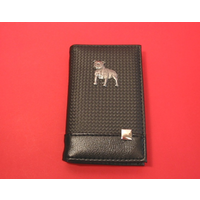 Staffordshire Bull Terrier Faux Carbon Fibre Black Note book & P