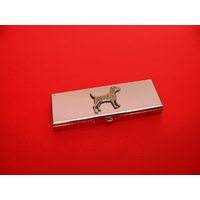 Patterdale Terrier Pewter Motif on Seven Day Pill Box Gift