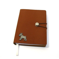 Miniature Schnauzer A6 Tan Journal Notebook Dog Gift
